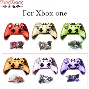 For Xboxone Bluetooth Gamepad Metal Plated Full Housing Shell Case Kit Replacement Parts for Xbox one Wireless Controller