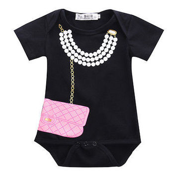2016 New Infant Newborn Baby Girl Boy Tuxedo Bodysuit Romper Jumpsuit Gentleman Clothes