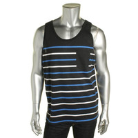 American Rag Mens Cotton Striped Tank Top