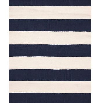 Sale ! Catamaran Stripe Indoor/Outdoor Rug | Navy/Ivory