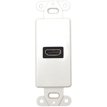 DataComm Electronics 20-4501-WH Decor Wall Plate Insert with 90deg HDMI(R) Connector