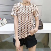 """Chanel"" Women Casual Fashion Personality Multicolor Print Short Sleeve T-shirt Top Tee"