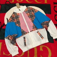 Burberry Fashion Color Splicing Jacket