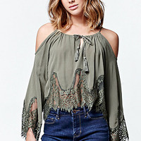 LA Hearts Eyelash Lace Cold Shoulder Top at PacSun.com