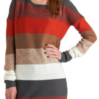 Jack by BB Dakota Rustic Long Long Sleeve On the Horizon Line Sweater