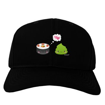 Cute Sushi and Wasabi Love Adult Dark Baseball Cap Hat by TooLoud