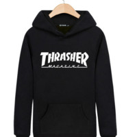 """""""Thrasher"""" Printed Unisex Trendy Pullovers Sweaters Hoodies In Plus Size Great Gifts"""