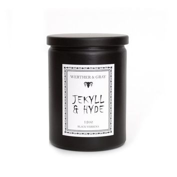 JEKYLL & HYDE, Scented Candle, Penny Dreadful, Black Verbena, Gothic Decor, Horror Candle, Victorian Era, Literary Candles, Robert Stevenson