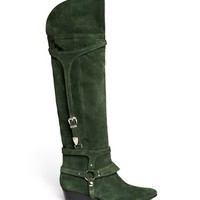 TOGA - Suede harness knee-high boots | Blue and Green Knee/Thigh Boots | Womenswear | Lane Crawford - Shop Designer Brands Online