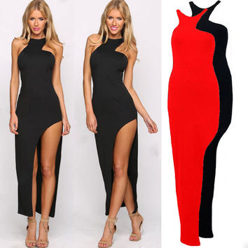 Summer Sexy Slim Strapless Ball Gown One Piece Dress [4966210820]