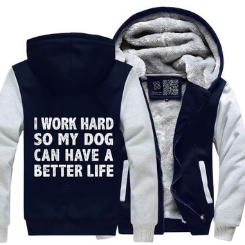I Work Hard So My God Can Have A Better Life, Dark Humor Fleece Jacket