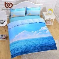 Beddingoutlet Starfish And Ocean Bedding Set Cool 3D Print Duvet Cover Set 3Pcs Twin Queen King Siz