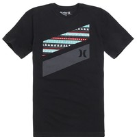 Hurley Tribal Slash T-Shirt - Mens Tee - Black