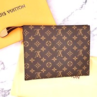 LV Tide brand classic men and women with the old flower clutch bag female cosmetic bag