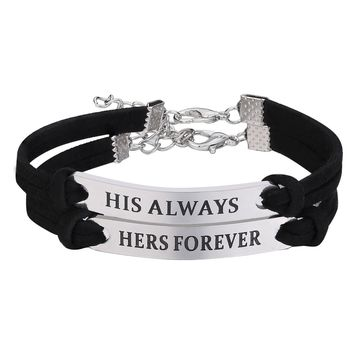 New! Unique Stainless Steel You Hold The Key To My Heart Couple Love Bracelet Valentine Gift