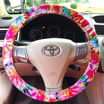 Tie Dye Steering Wheel Cover Car Accessory