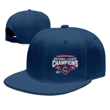 Chicago Cubs Royal 2016 National League Champions Wild Pitch Funny Unisex Adult Womens Flat Brim Hats Mens Fitted Hats