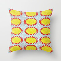 Sunny Throw Pillow by Peaky40