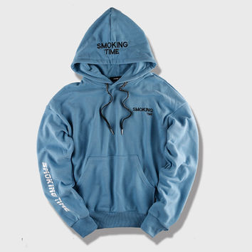 Smoking Time Light Blue Hoodie