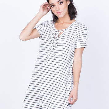 Comfy Days Striped Dress