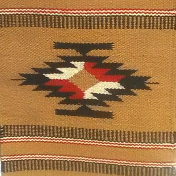 Aztec Table Rug # 4, Hand Loomed Wool 15' by 20""