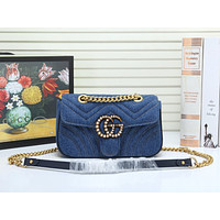 GUCCI Purses and Handbags for Women Designer Shoulder Crossbody Bags for Women with Chain Bee Fashion