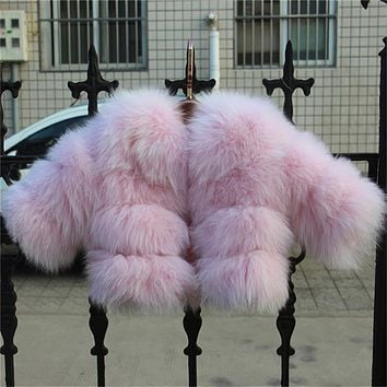 2017 New Children Real Fox Fur Coat High Quality Outwear Coat Winter Warm Babys Thick Natural Thick Clothing Jacket DC#1
