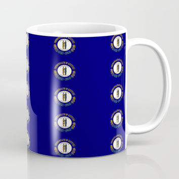 flag of kentucky 2-flag of kentucky,kentucky,america,us,Bluegrass State,Kentuckian Coffee Mug by oldking