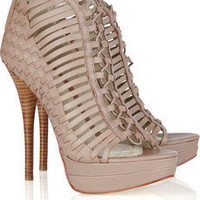 Discount Mea Shadow Fatima woven leather sandals|THE OUTNET