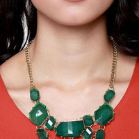 Off to See the Wizard Green Statement Necklace