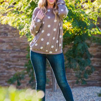Polka dot lace sweater