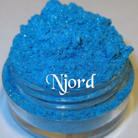 TO BE DISCONTINUED 40% Off Sale Njord Bright Blue Glimmer Silver Shimmer Mineral Eyeshadow Mica Pigment 5 Grams Lumikki Cosmetics