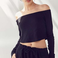 Out From Under Chill Out Off-The-Shoulder Crop Top | Urban Outfitters
