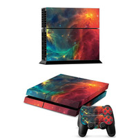 Deep Space Vinyl Decal Skin For playstation 4 Console +2Pcs Stickers For ps4 Controllers