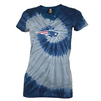 New England Patriots - Logo Juniors Spiral Tie Dye T-Shirt