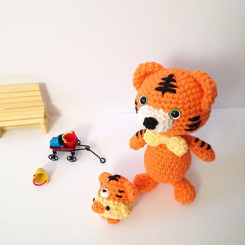 Amigurumi Tiger Amigurumi Chick Crochet Tiger Crochet Chick Crochet Doll Stuffed Animal Plush Kids Toy Crochet Toy Kawaii Gift Ideas