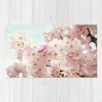 cherry blossoms Rug by sylviacookphotography