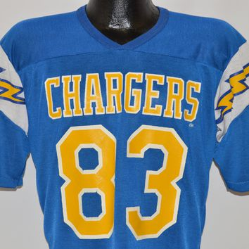 80s San Diego Chargers #83 Jersey t-shirt Medium