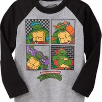 Old Navy Teenage Mutant Ninja Turtles Raglan Sleeved Tees For Baby