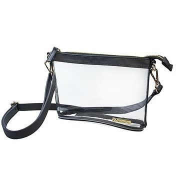 Clear Small Crossbody | Black