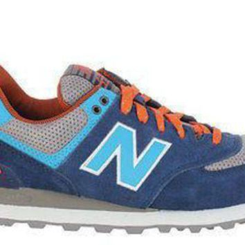 DCCKGQ8 new balance mens sneakers 574 out east navy blue orange ml574son