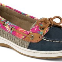 Sperry Top-Sider Angelfish Flamingo Floral Slip-On Boat Shoe Navy, Size 6.5M  Women's Shoes