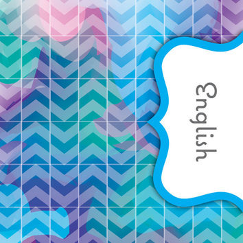 Back to School! Swirly Paint Binder Dividers - English Class