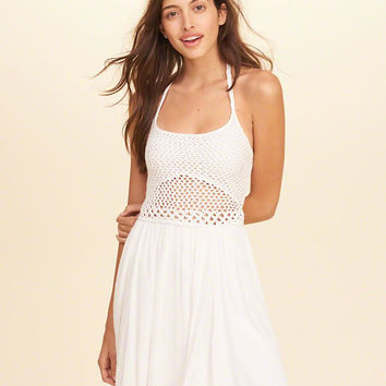 Girls Crochet Halter Dress | Girls Clearance | HollisterCo.com