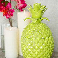 Green Ceramic Pineapple Jar