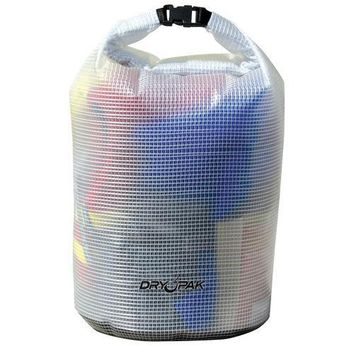 "Dry Pak Roll Top Dry Gear Bag - 9-1/2"" x 16"" - Clear"