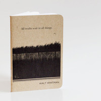 Walt Whitman Notebook, Mini Notebook and Jotter, Writer Journal
