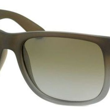 Kalete New Ray Ban RB 4165 Justin 854/7Z Brown Rubber Plastic Sunglasses 51mm