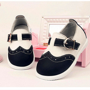 Quality cowhide leather 1-3 ages baby toddler shoes sport casual shoes velcro