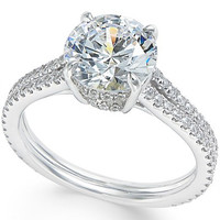 Certified Diamond Engagement Ring (2-1/2 ct. t.w.) in 18k White Gold